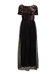 onlCONFIDENCE S/S MAXI DRESS JRS - BLACK