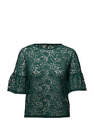onlMILLA 2/4 LACE TOP ESS - RAIN FOREST