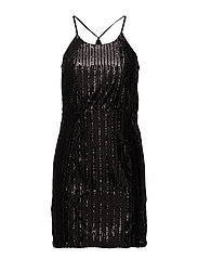 onlEILEEN SEQUIN SHORT DRESS WVN - BLACK