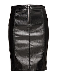 onlANN FAUX LEATHER MIDI SKIRT OTW - BLACK