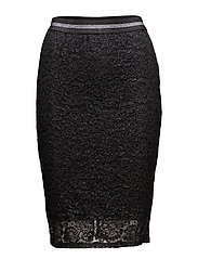 onlLENE KNEE SKIRT JRS - BLACK