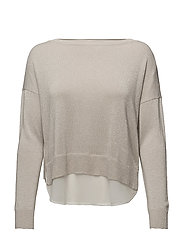 onlSHEN L/S MIX PULLOVER KNT - PUMICE STONE