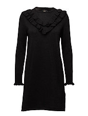 onlYASMIN L/S DRESS KNT - BLACK