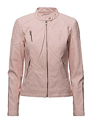 onlSTEADY FAUX LEATHER JACKET CC OTW - STRAWBERRY CREAM