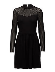 onlNIELLA MESH L/S DRESS ESS