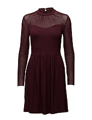 onlNIELLA MESH L/S DRESS ESS - PORT ROYALE