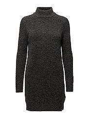 onlMEREDITH HIGHNECK L/S DRESS KNT NOOS - DARK GREY MELANGE