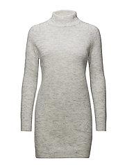 onlMEREDITH HIGHNECK L/S DRESS KNT NOOS - WHITE