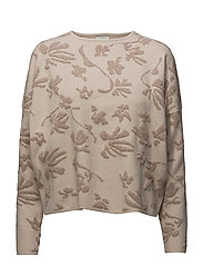 onlFLOWER L/S PULLOVER KNT - PUMICE STONE