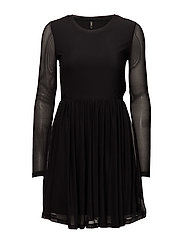 onlTRIBECCA L/S DRESS ESS - BLACK
