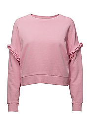 onlTONY FRILL LS BLOUSE SWT - PRISM PINK