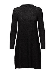 onlKLEO L/S DRESS KNT NOOS - DARK GREY MELANGE