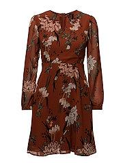onlEMMA L/S SHORT DRESS WVN - ARABIAN SPICE
