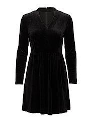 onlMANDY 7/8 CHOKER VELVET DRESS WVN - BLACK