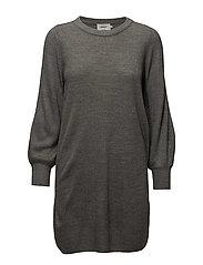 onlSIFF L/S DRESS CC KNT - MEDIUM GREY MELANGE
