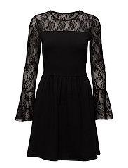onlNIELLA L/S FLARED DRESS ESS - BLACK