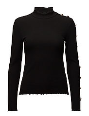 onlROXANA L/S BUTTON TOP ESS - BLACK