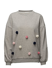 onlASTI L/S O-NECK POM POM SWT - LIGHT GREY MELANGE