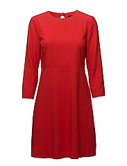 onlMICHELLE 7/8 SHORT DRESS TLR - FLAME SCARLET