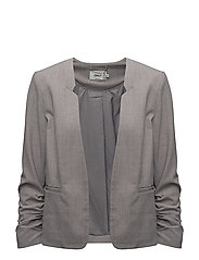 onlROMA PANEL MELANGE 3/4 BLAZER TLR - LIGHT GREY MELANGE
