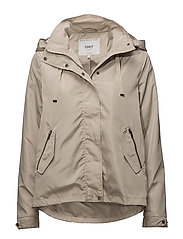 onlLINA NYLON PARKA JACKET OTW - FEATHER GRAY