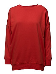 onlNEW AMOUR SOUND L/S O-NECK SNAP SWT - AURORA RED