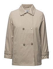 onlMELIA 7/8 SLEEVE SHORT TRENCHCOAT OTW - FEATHER GRAY