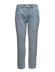 onlDRITKUL HW BOOTY PEARL A JEANS DNM BJ - LIGHT BLUE DENIM
