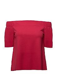 onlJOANA S/S OFF SHOULDER TOP JRS - ROSE RED