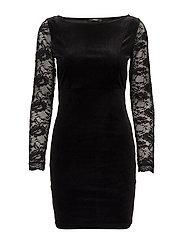 onlVALERIE BOATNECK DRESS JRS - BLACK