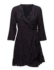 onlEMMA 3/4 WRAP DRESS WVN - NIGHT SKY