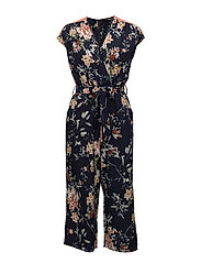 onlTERRA S/S JUMPSUIT WVN - NIGHT SKY