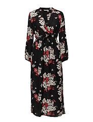 onlMIE L/S MAXI DRESS WVN - BLACK
