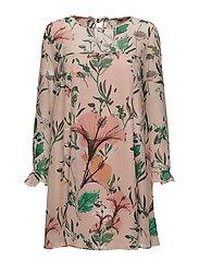 onlDIDA L/S FRILL DRESS WVN - ROSE SMOKE