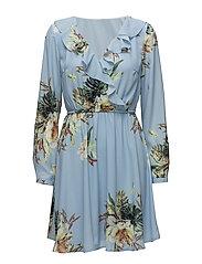 onlCARLA WRAP DRESS WVN - CHAMBRAY BLUE