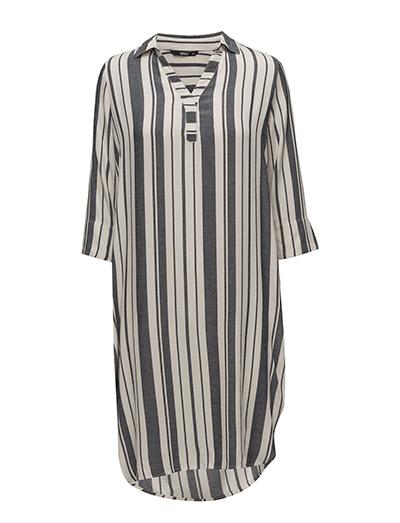 Onlcapri 3/4 Long Shirt Stripe Wvn