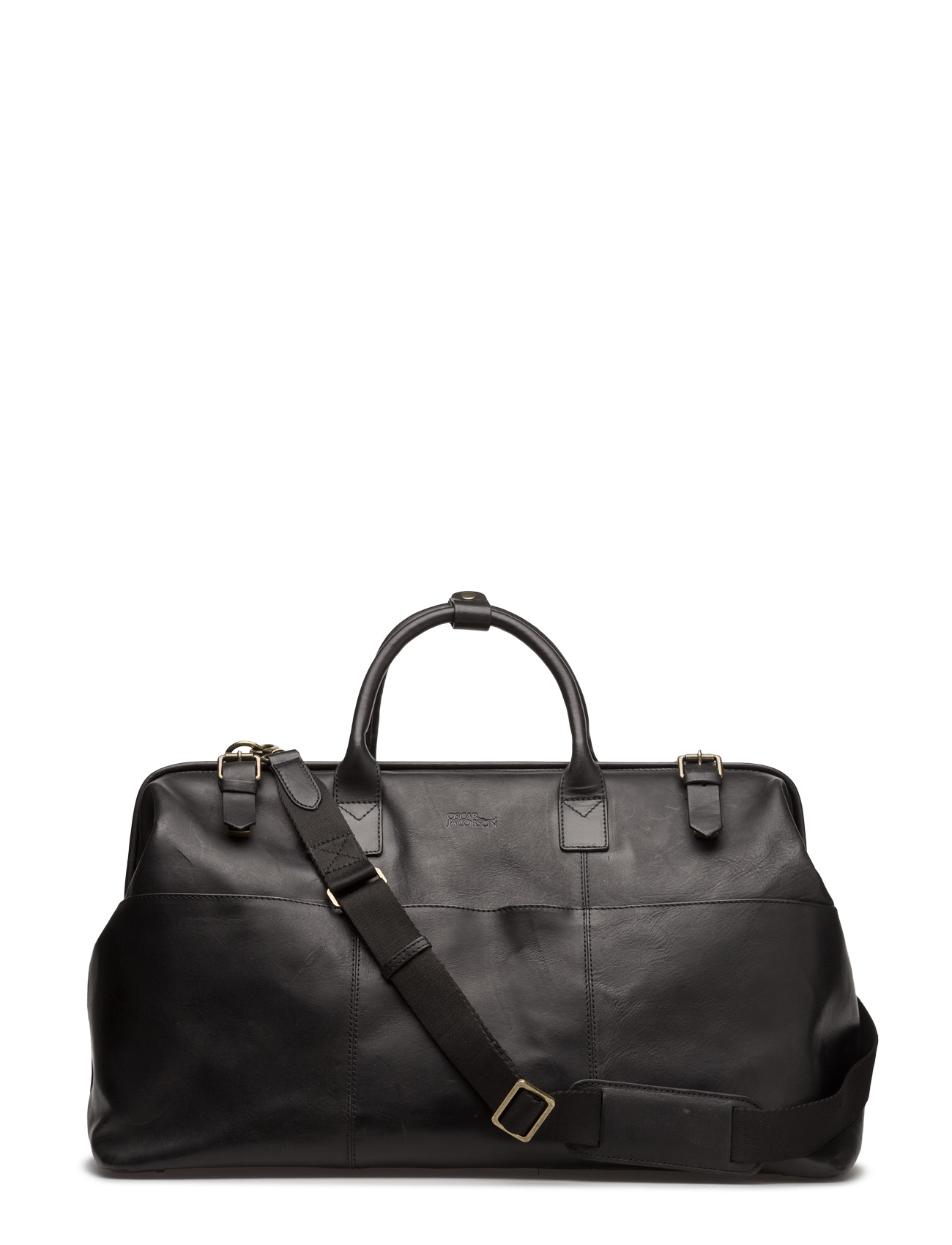 Oscar Jacobson Leather Weekend Male Large Bag Blac 1X1X8p6e