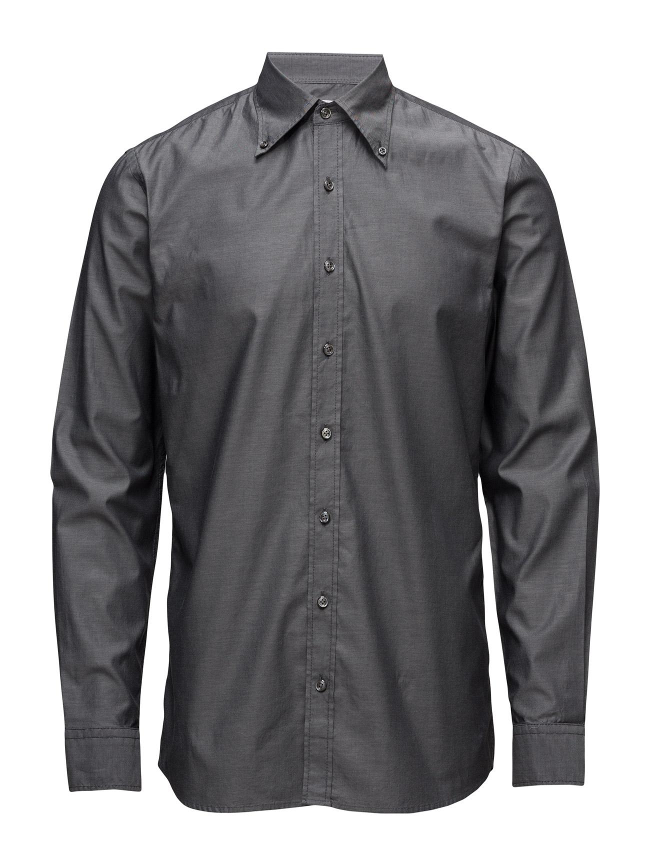 Harry 2 Slim Shirt Wash Oscar Jacobson Business til Herrer i Grå