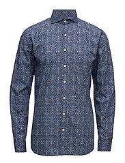 Herman 2 slim shirt wash - 238 - INK BLUE