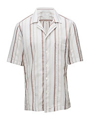 Hakon reg shirt wash - 477 - LIGHT BEIGE