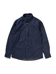 CAST M LS CHAMBRAY SHIRT 114 - Dress Blues