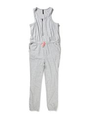 TUESDAY F JUMPSUIT 214 - Light Grey Melange