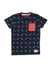 EWAN M SS TOP BOX 214 - Dress Blues