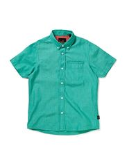 TOM M SS CHAMBRAY  SHIRT 214 - Pool Green