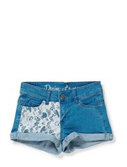 VELOUR F LW HOT PANTS 214 - Medium Blue Denim