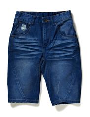 TURBO-FLAKE M DENIM LONG SHORTS 214 - Dark Denim