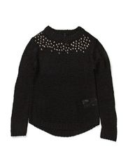 GRETA F O-NECK KNIT 414 - Black