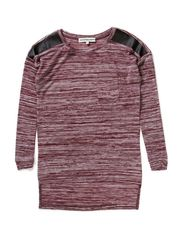 FOLLOW F LS LONG KNIT 514 - Windsor Wine