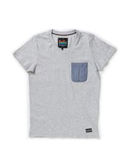 KING M SS TOP 514 - Medium Grey Melange