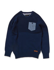 POW M KNIT 514 - Dress Blues